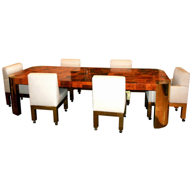 Paul Evans Cityscape Dining Extension Table and Chairs Paul  Evans
