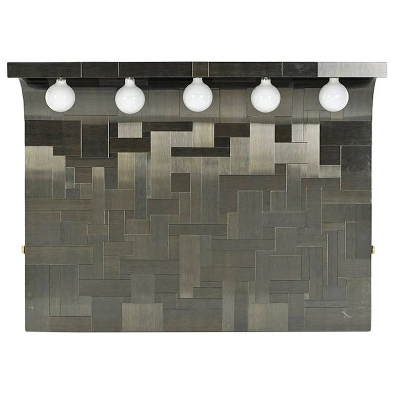A pair of Cityscape Queen headboard with lights Paul Evans for Directional Paul  Evans