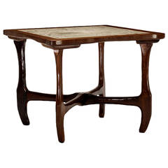 Rosewood and Marble Table, Don Shoemaker Don  Shoemaker