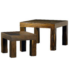 Two Rosewood Nesting Tables, Don Shoemaker Don  Shoemaker
