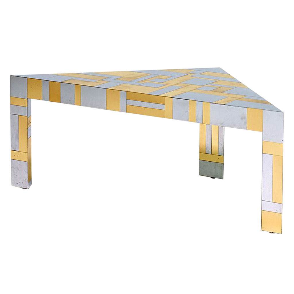 Illuminated Cityscape Corner Table by Paul Evans Paul  Evans