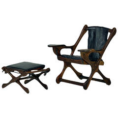 Rosewood Lounge Chair and Ottoman Don Showmaker Don  Shoemaker
