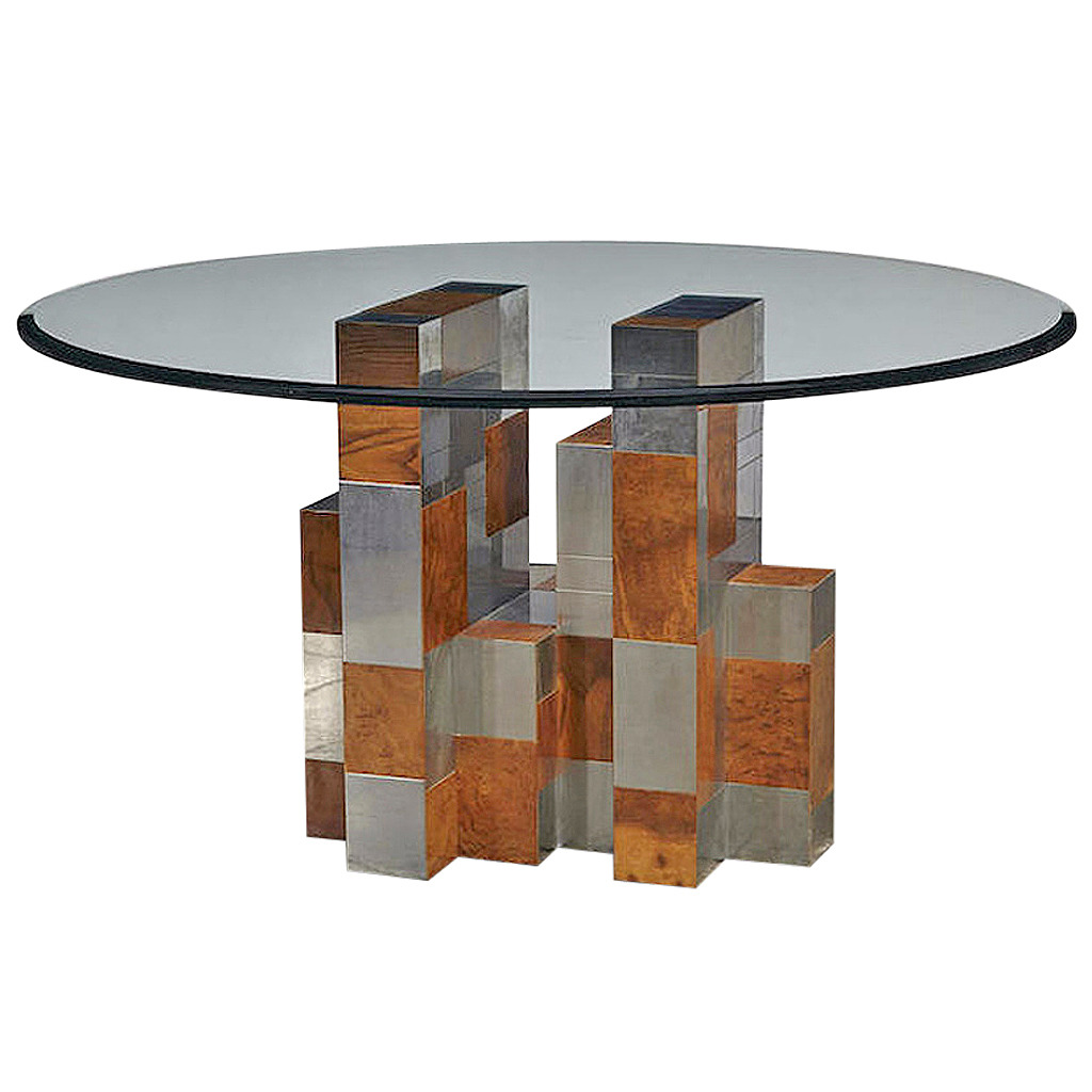 Cityscape Dining Table Paul Evans for Directional Paul  Evans