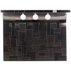 One of the Pair Cityscape Headboard with Lights Paul Evans for Directional Paul  Evans
