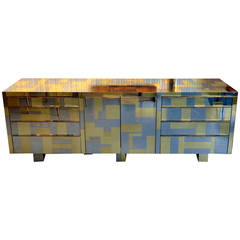 Cityscape credenza Brass and Chrome Paul  Evans