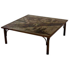 Etched Bronze Coffee Table Philip & Kelvin Laverne Philip & Kelvin  Laverne