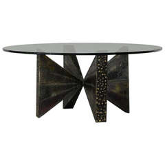 Scultped Steel Coffee Table Paul Evans Paul  Evans