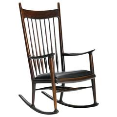 Rare Early Rosewood Rocking Chair by Sam Maloof Sam  Maloof