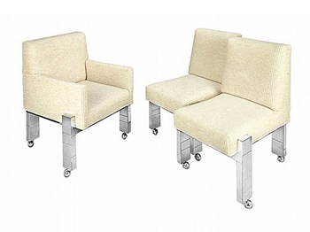 A set of Six Paul Evans cityscape dining chairs Paul  Evans