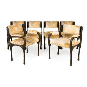 Dining sculpted chairs by Paul Evans Paul  Evans