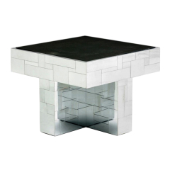 Cityscape slate top coffee side occasional table Paul  Evans