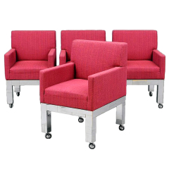 Set of Four cityscape armchairs Paul Evans Paul  Evans