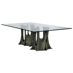 Paul Evans Sculpted bronze dining table Paul  Evans