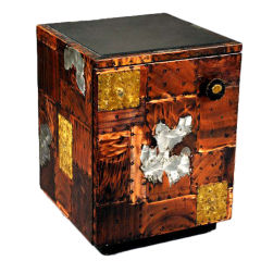 Metal Patchwork Side occasional Table Cabinet Paul Evans Paul  Evans